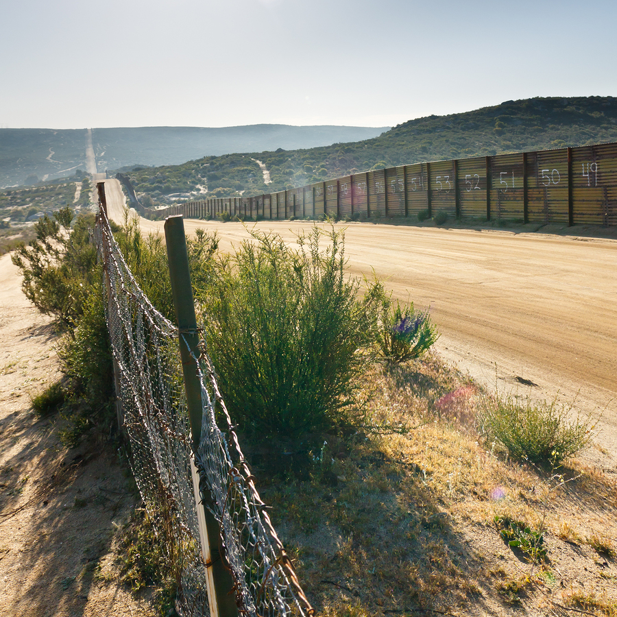 Border On Mexico Side