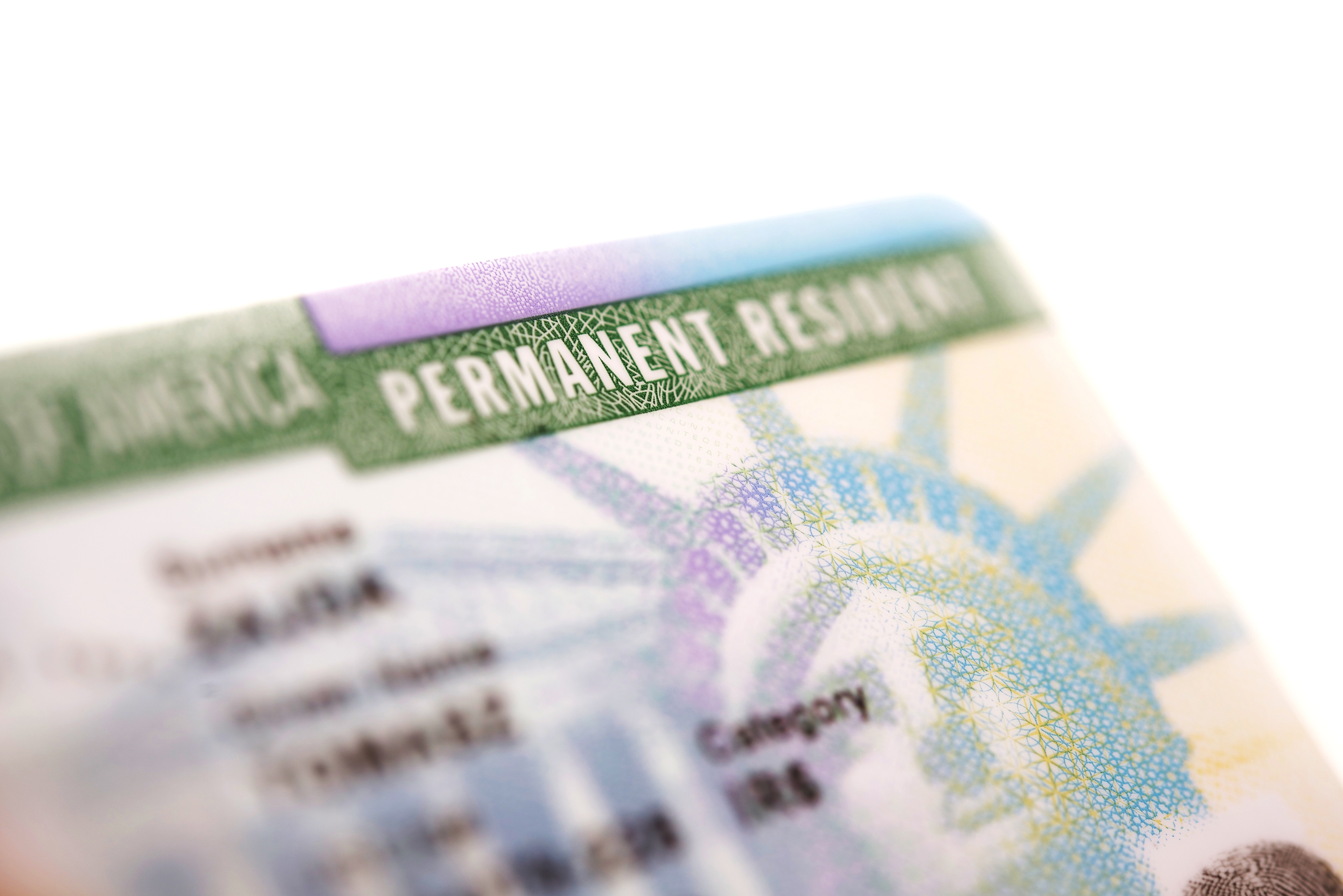 Permanent Resident Cards Demonstrate Status